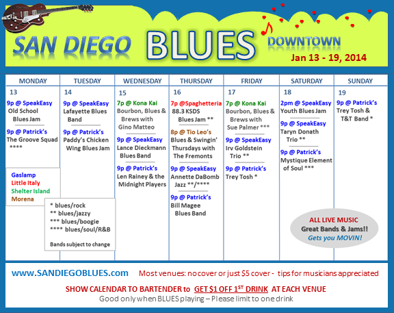 Blues Calendar - Jan 13