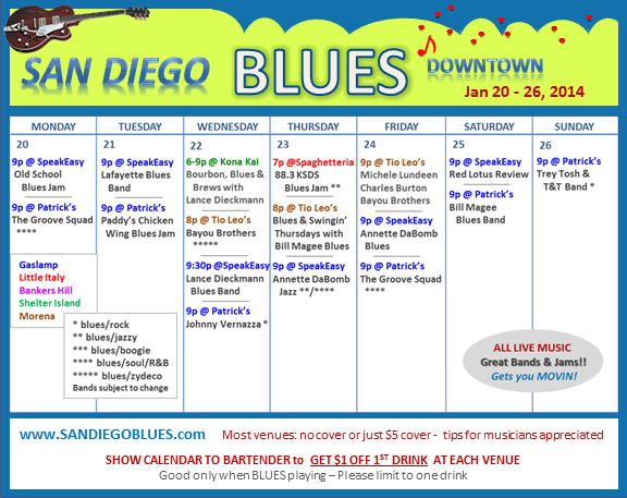 Blues Calendar - Jan 20