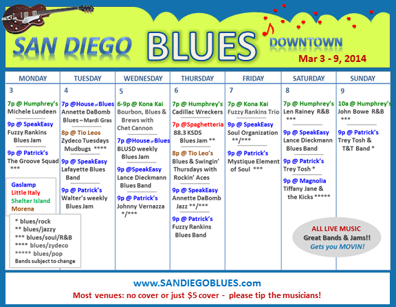 Blues Calendar - Mar 3