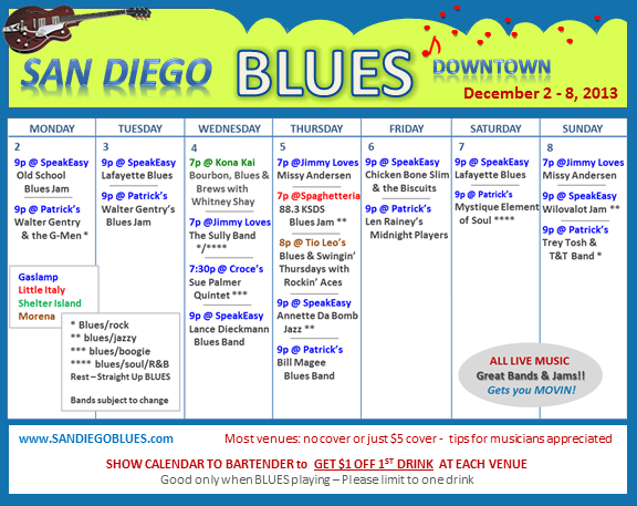Blues Calendar - Dec 2