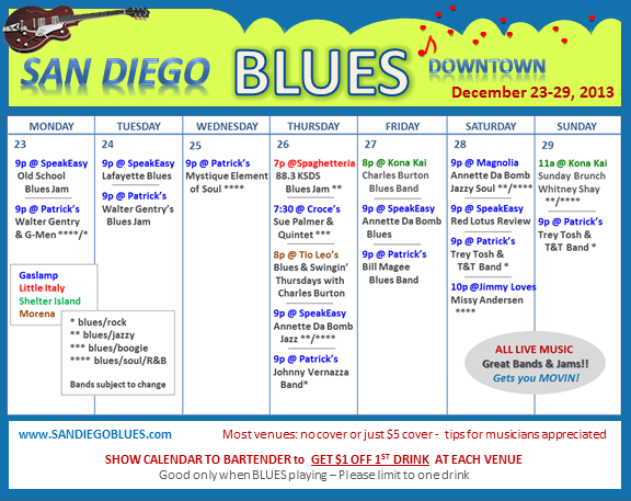 Blues Calendar - Dec 23