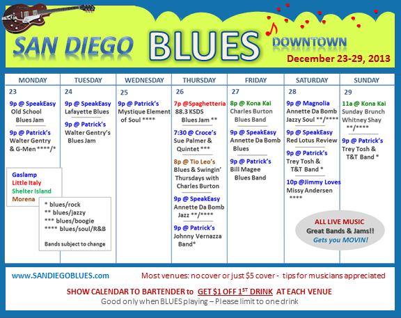 Blues Calendar - Dec 23