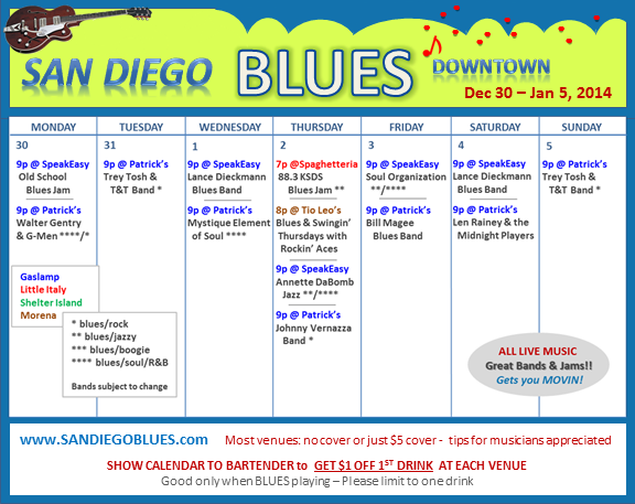 Blues Calendar - Dec 30