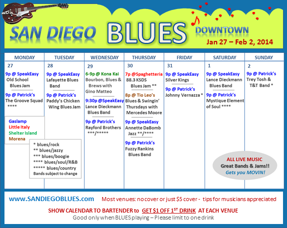 Blues Calendar - Jan 27