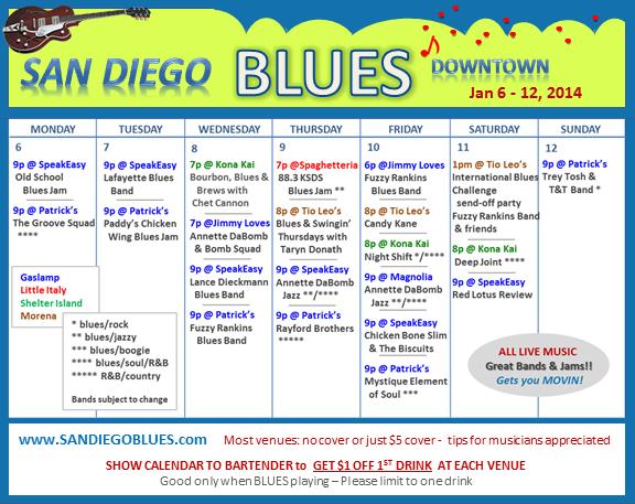 Blues Calendar - Jan 6