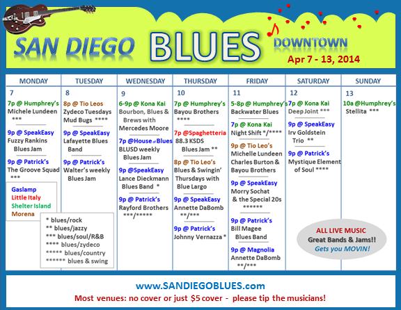 Blues Calendar - Apr 7