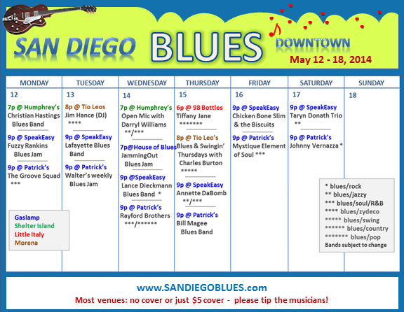 Blues Calendar - May 12