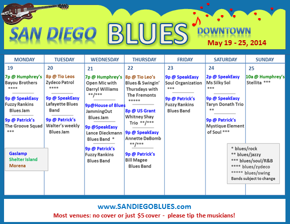 Blues Calendar - May 19