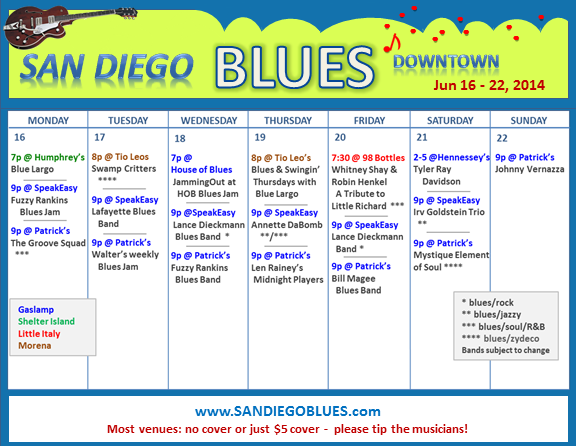 Blues Calendar - Jun 16