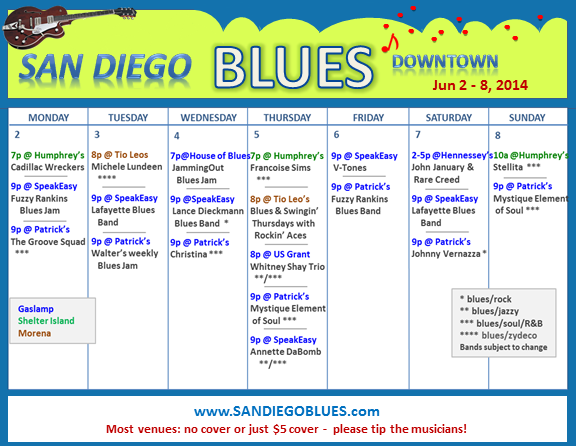 Blues Calendar - Jun 2