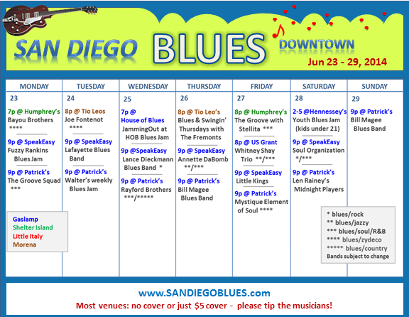 Blues Calendar - Jun 23