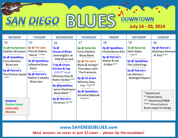 Blues Calendar - July 14
