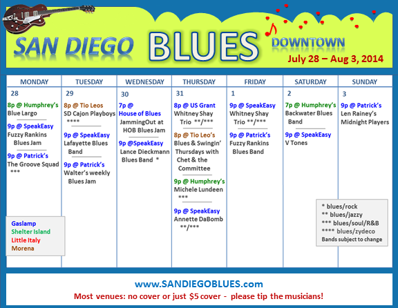 Blues Calendar - July 28