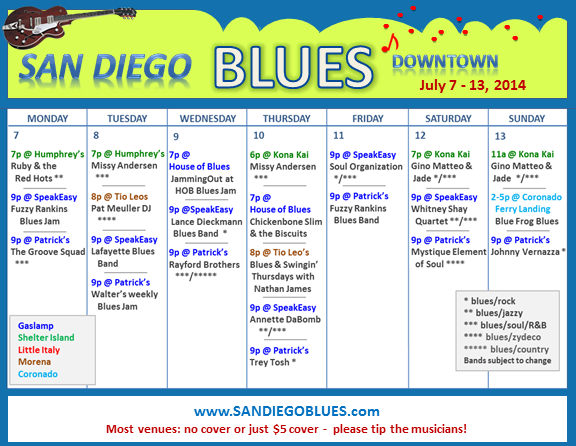Blues Calendar - July 7