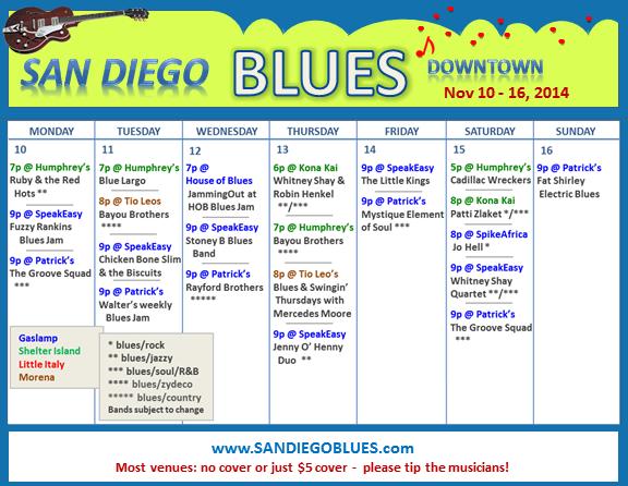 Blues Calendar - Nov 10